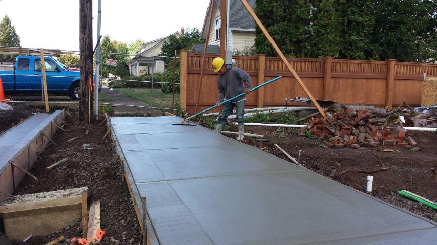 Richardson concrete contractors at work.