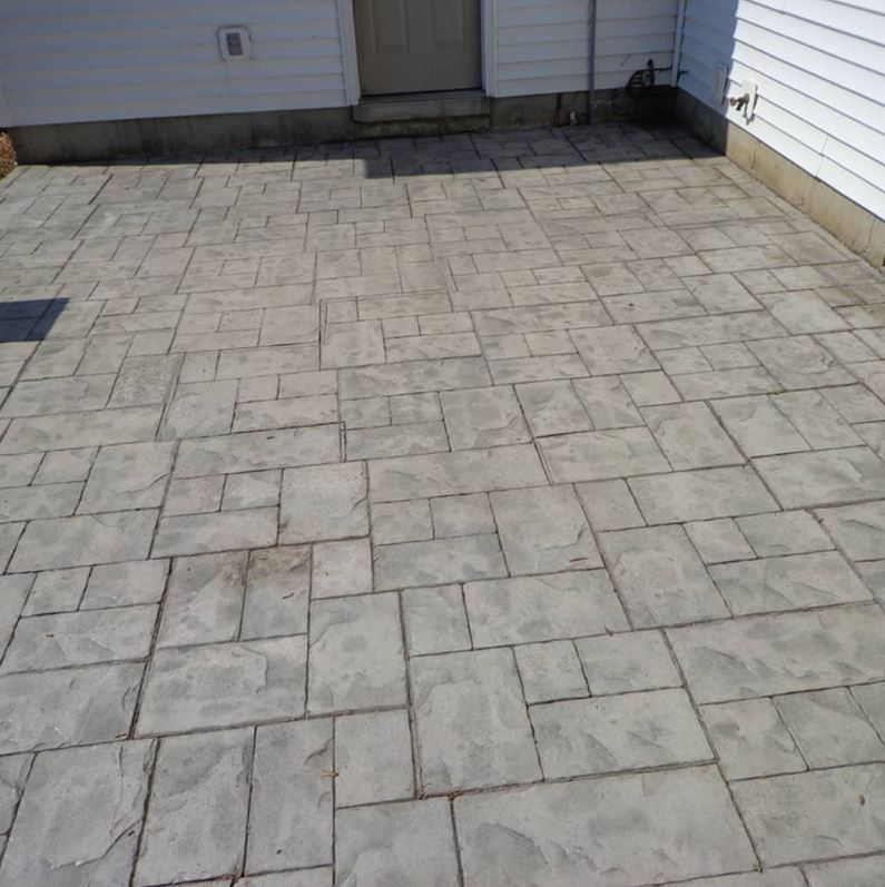Stamped Concrete Patio installed in a Richardson home.